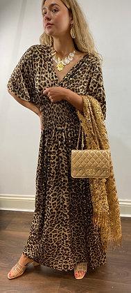 Africa Leopard Maxi Dress