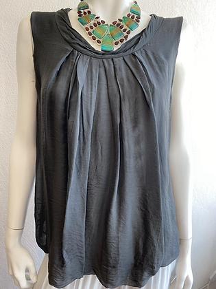 Silk vest top charcoal