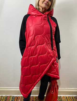 Red Urban Hooded Coat