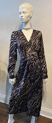 Tatiana Tiger Dress Grey