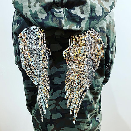 Camo Hooded Urban Angel Wings Jacket
