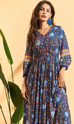 Himalayan Blue Poppy Dress