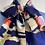 Thumbnail: Small Silk Scarf Navy