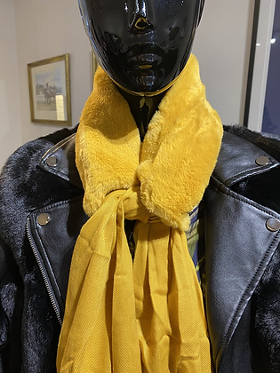Faux Fur Two in One Scarf