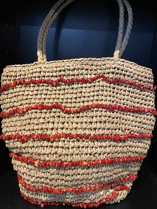 Coral Ibiza Boho Shoulder Bag