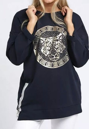 Versace Inspired Tiger Lounge Wear