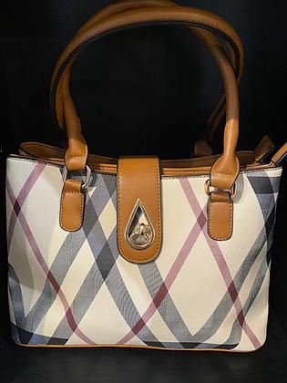 Designer Inspired Check Tote Bag