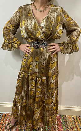 Saffron Snake Dress