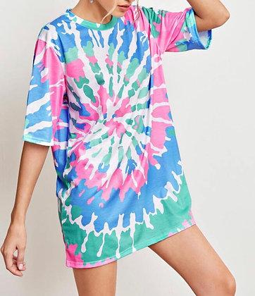 Bright Tie Dye Long t-shirt