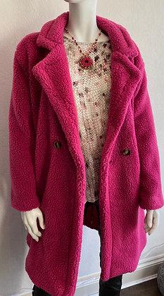 Margo Hot Pink Teddy Coat