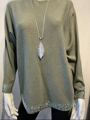 Olive Bling Designer Knit