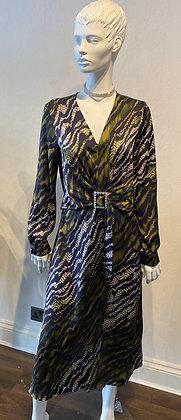 Tatiana Tiger Dress Khaki