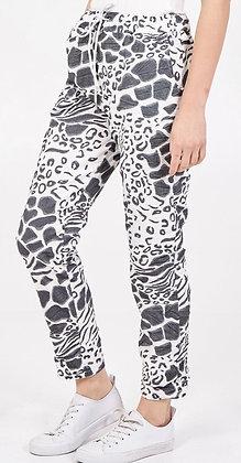 Wild Print Magic Pants Stone