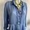 Thumbnail: Silk Cornflower Blue Blouse