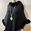 Thumbnail: Black Luxury Faux Fur Poncho