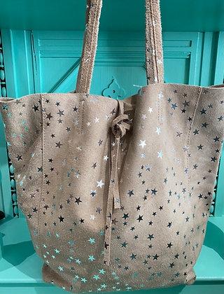 Twinkle Little Star Italian Suede Shoulder Bag