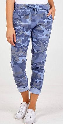 Denim Blue Camo Magic Trousers