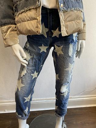 Designer Star Distressed Jeans