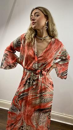 Coral Snake Print Maxi Dress