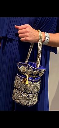 Margo Royal Blue Evening Bag