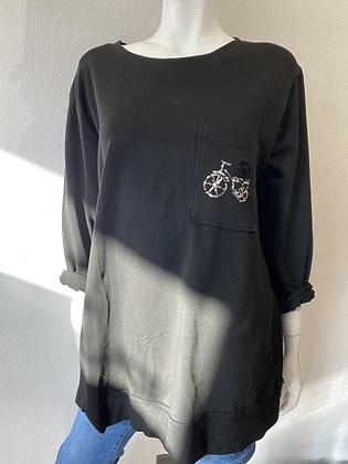 My Bicycle Sweatshirt Eco Cotton Black