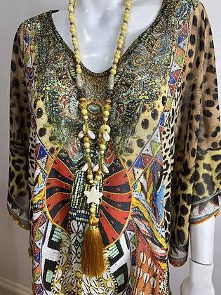 Malissa J Collection Embellished Kaftan