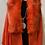 Thumbnail: Atomic Orange Faux Fur Shawl