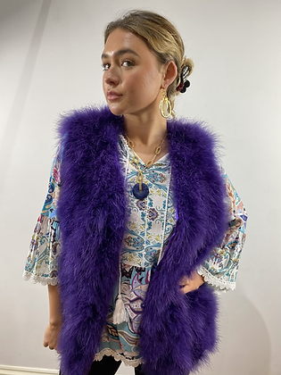 Couture Feather Amethyst Gilet