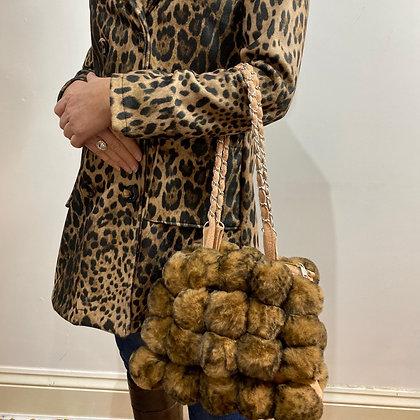 Leopard Faux Fur Shoulder Bag