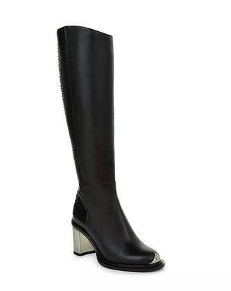 Black Italian Leather Designer Boots