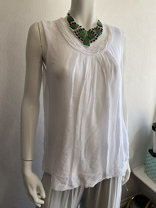 Silk Vest Top White
