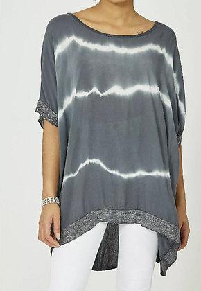 Tie Dye Charcoal Sequin T-shirt