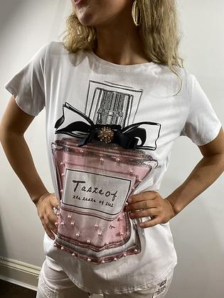 Italian Purfume Bottle T-shirt White
