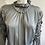Thumbnail: Silver Silk Puff Sleeve Blouse