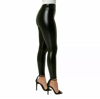 Faux Leather Wet Look Leggings
