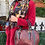 Thumbnail: Couture Red Snake Leather Tote Bag