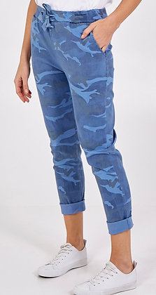 Denim Blue Camo Magic Pants