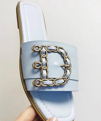 Designer Italian Sliders Sky Blue