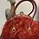 Thumbnail: Couture Wine Faux Fur Handbag