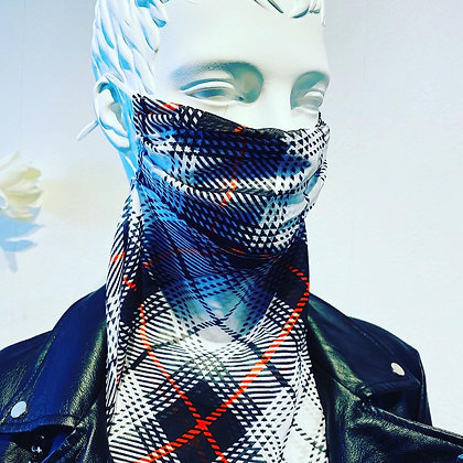 Scarf Face Mask Checked