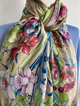 Elegant Spring Silk Scarf