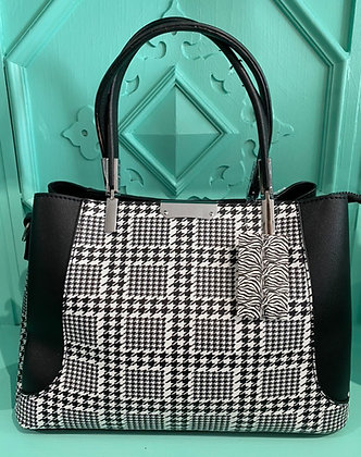 Hatty Houndstooth Tote Bag