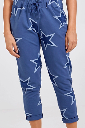 Double Star Blue Jersey Joggers