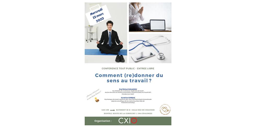 2020 - Midi CXIO - Conférence Santé gratuite / Grand public