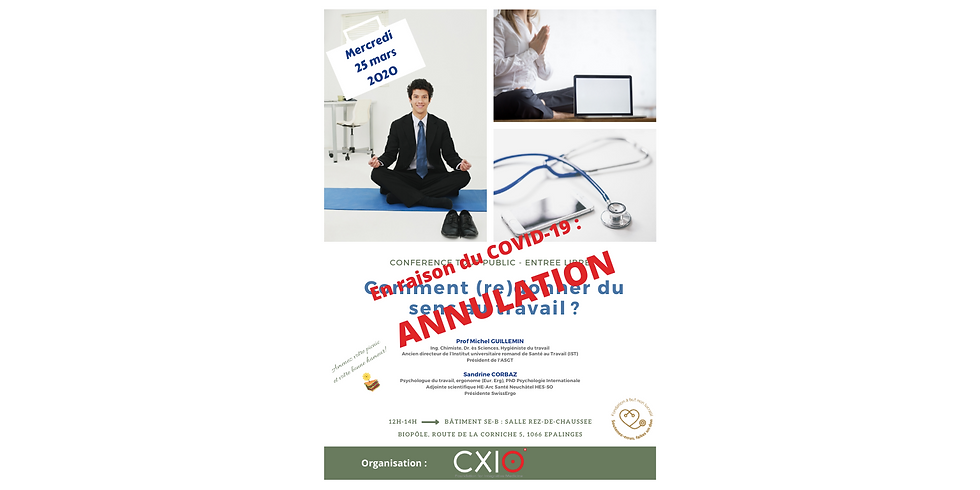 Annulé : 2020 - Midi CXIO - Conférence Santé gratuite / Grand public