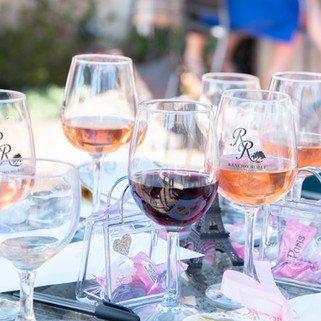 Wine glasses at Rancho Roble