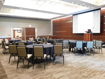 Grand Hall Business set up with AV in one section