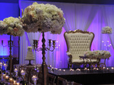 Grand Hall Reception with custom stage set up and draping