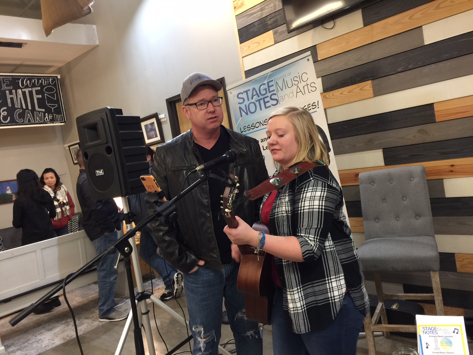 Singer Cassidy Ford with Devin Leigh of Stage Notes