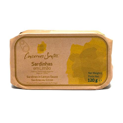 Sardines au citron 120g